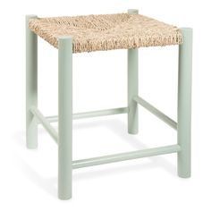 Green wooden stool CAMPO