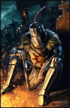 m Paladin plate helm sword night camp An alternate title for this image might be: Solaire's Despair Dark Souls- Solaire of Astora I'm a huge fan of the souls series, so it feels pretty good to finally get a fan art piece up in apprecia. Dark Souls 3, Arte Dark Souls, Dark Souls 2 Bosses, Dark Souls Armor, Dark Souls Solaire, Fantasy Armor, Medieval Fantasy, Medieval Knight, Dark Fantasy Art