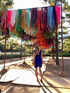 Experience the New Art Installation: The Color Condition at Discovery Green – It's Not Hou It's Me Discovery Green, Backdrops For Parties, Installation Art, Art Installations, Hanging Art, Event Styling, Public Art, Event Decor, Event Design