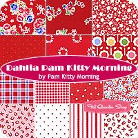 Dahlia Pam Kitty Morning Fat Quarter Bundle Pam Kitty Morning for Lakehouse Dry Goods