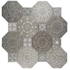 Merola Tile Star Nero 17 5 8 In X 17 5 8 In Ceramic Floor And Wall Tile 11 1 Sq Ft Case