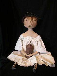 Primitive Hannah Doll Printed Pattern By Cheswickcompany