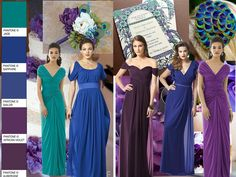 Summer Purple Peacock Wedding : PANTONE WEDDING Styleboard : The Dessy Group