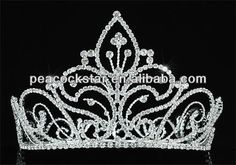 """Wholesale Vintage Style Pageant Tall 5"""" Tiara Full Circle Round Crystal Crown CT1726 $31"""