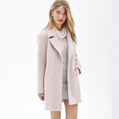 Soft Pink Classic Car Coat
