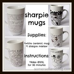 Easy to make Sharpie Marker Mugs. Will make great home made gifts for kids to make and give
