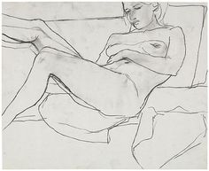 Untitled, c. 1955-67 Charcoal On Paper 13.75 x 16.75 inches