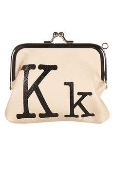 cute initial coin purse