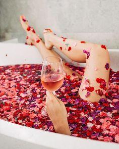 A Monday evening well spent! | Instagram Ideas | Flower petal bath photo | Bath goals | Photography Ideas | Flowers in Bali | Photoshoot Ideas