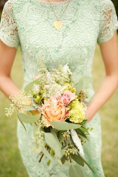 mint green bridesmaid dress #mintbridesmaid http://www.weddingchicks.com/2013/11/21/mint-and-gold-wedding/