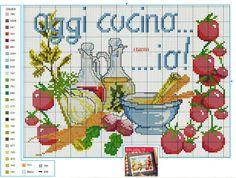 SCHEMI PUNTO CROCE: OGGI CUCINO IO PUNTO CROCE (today I cook = oggi cucino io) Italian