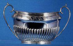 Sugar Bowl. Victorian sterling silver. 1867
