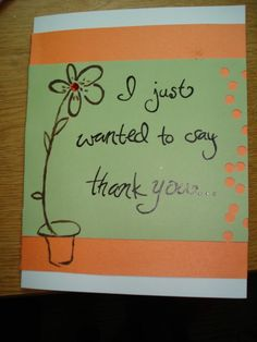 Orange & Olive Thank You Card