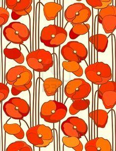 Poppies http://www.pinterest.com/kaatje1960/jugendstil-and-art-deco/