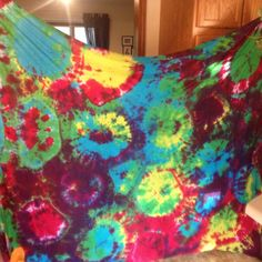 Homemade tie-dye sheets!