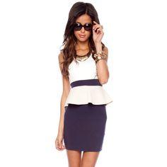Nicole Peplum Dress.   polyvore.com  <3