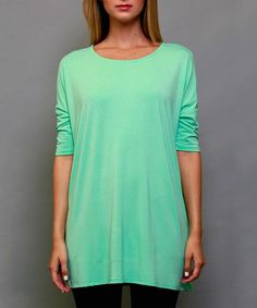 Love this Mint Scoop Neck Top on #zulily! #zulilyfinds