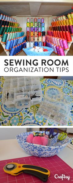 In every thread drawer is a spool of opportunity. #craftwisdom Get inspired with craft room organization tips and ideas on the Craftsy blog!