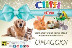 Cliffi è a #Petsfestival. Vieni a ritirare il tuo delizioso #OMAGGIO allo stand #CLIFFI N. 32/A. Ne abbiamo per tutti i gusti: uccellini, conigli, roditori, cani e gatti! :) @petsestival
