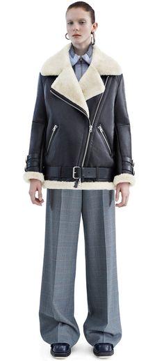Acne Studios Velocite Black w White Shearling jacket