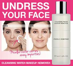 Cleansing water! Help remove the makeup first so your cleanser can get down into your pores for an excellent clean face.