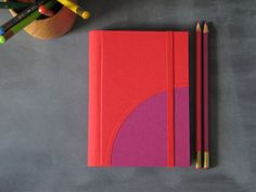 Custom Color Undated Circle Small Weekly by ArteeLuarBookbinding, €24.00