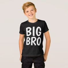 BIG BRO BROTHER kids T-shirts - kids kid child gift idea diy personalize design