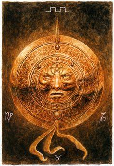 Luis Royo - The Labyrinth Tarot - Minor Arcana: Pentacles