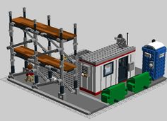 Everything in Lego City has to start somewhere! The Modular Building Construction Site will give Lego City and Modular Building fans a place for their Lego construction worker...