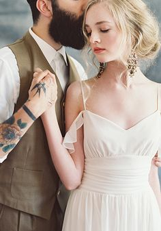 Claire Pettibone #Romantique 'Ceylon' wedding dress | Bohemian Rhapsody Collection