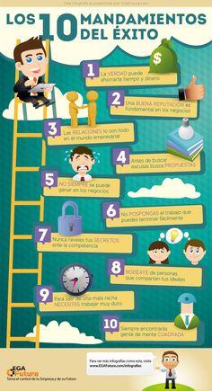 Los 10 mandamientos del éxito #infografia