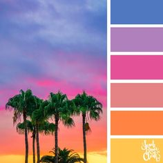 25 Color Palettes Inspired by Spectacular Skies & PANTONE Classic Blue - Tropical Sunset // The sky is such an amazing canvas! Enjoy these color combinations inspired by sp - Color Schemes Colour Palettes, Colour Pallette, Color Palate, Color Combos, Room Color Schemes, Good Color Combinations, Summer Color Palettes, Spring Color Palette, Sunset Color Palette
