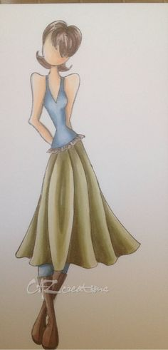 """Julie Nutting Prima Doll """"MEGAN""""        Caz #2 ... coloured with Copic markers"""