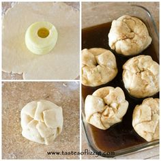 Amish Apple Dumplings. Apples wrapped in a homemade dough and baked in a cinnamon-sugar syrup. The best way to eat an apple!
