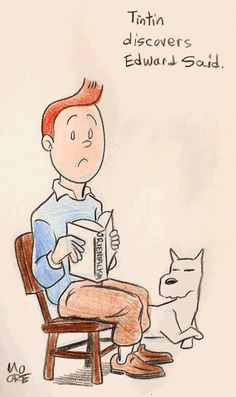 Tintin discovers Edward Said. | Tricycle (Snowy, however, remains an unrepentant colonialist)