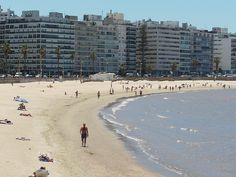 Pocitos beach, Montevideo, Uruguay Wonderful Places, Beautiful Places, Travel Around The World, Around The Worlds, Trinidad Y Tobago, Equador, South America Travel, Beach Trip, Places