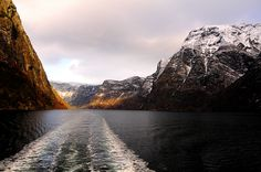 Boating in the Sognefjord, Norway