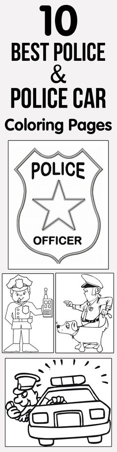 10 Best Police & Police Car Coloring Pages Your Toddler Will Love