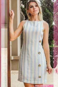 Journey Tutorial and Ideas Simple Dresses, Cute Dresses, Casual Dresses, Short Dresses, Fashion Dresses, Dresses For Work, Summer Dresses, Fashion Vestidos, Linen Dresses