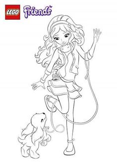 「lego friends coloring pages printable free」の画像検索結果