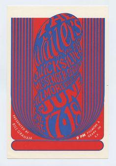 Bill Graham 011 Postcard Waliers Quicksilver Messenger Service 1966 Jun 17