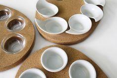 σ Sigma Palette Painting for Gourmet Food #appetizer #food #cork #tablepieces #design #minimal #ceramic #glass