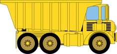 Dump Truck by @azieser, A large mining or rock quarry truck for use in your projects or any application requiring a dump truck. Not modeled after any particular brand. , on @openclipart