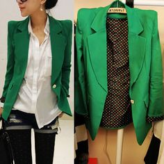Free shipping summer small suit jacket female medium long slim one button polka dot ,blazers for women,blazer-inBlazer & Suits from Apparel ...
