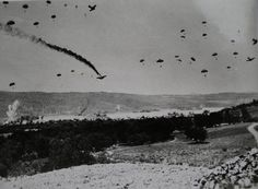 """This day in German airborne forces invade the island of Crete. The Germans lost Fallschirmjäger. Hitler was horrified at these losses and no longer launched any large scale airborne operations. Narvik, Creta, History Online, World History, Battle Of Crete, Ww2 Photos, Ww2 Pictures, Images Photos, Historical Pictures"
