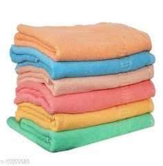 Hand & Face Towels Hand Towels Combo Pack of 6 - Cotton - Size 33x51 CM - Mix Colours - Plain Material: Cotton Print or Pattern Type: Solid Multipack: 6 Sizes:  Free Size (Length Size: 21 in, Width Size: 14 in)  Country of Origin: India Sizes Available: Free Size   Catalog Rating: ★4.1 (1371)  Catalog Name: Ravishing Alluring Hand Towels CatalogID_3062862 C71-SC1113 Code: 262-15355523-864