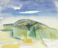 John Marin (American, 1870-1953), Hills, 1918. Watercolor and pencil on paper, 16 x 19¼ in