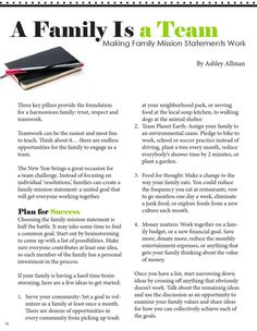 Family Mission Statements Source by Look winter Family Mission Statements, Family Rules, Family Goals, Family Life, Family Meeting, Family Night, Family Home Evening, Strong Family, Family Bonding