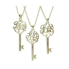 Faith Hope Love Key Necklaces. Starting at $3 on Tophatter.com!