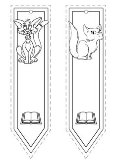 Marcapáginas de gatos Cute Coloring Pages, Coloring For Kids, Adult Coloring Pages, Coloring Sheets, Coloring Books, Bookmark Craft, Corner Bookmarks, Bookmarks Kids, Felt Patterns